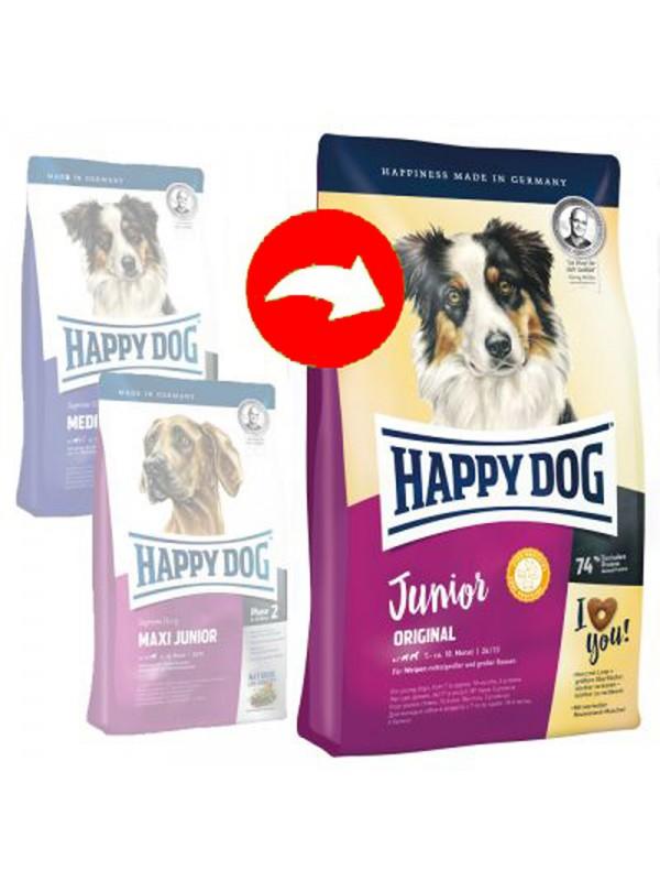 happy dog junior original 10kg 2kg gratis akcija. Black Bedroom Furniture Sets. Home Design Ideas